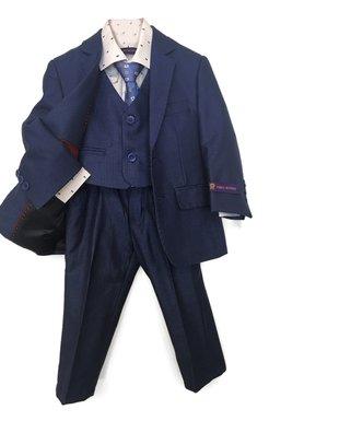 d383efc581c180 James Morgan | Royal Blue & Navy Five-Piece Linen Suit - Toddler
