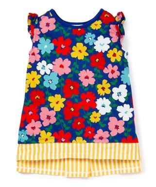 555ced6de Deep Blue Sea Flower 'n' Stripes Top - Girls