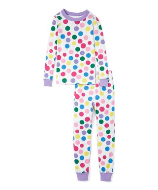15898f0dd Hanna Andersson | Blowing Bubbles Organic Cotton Long John Pajama Set -  Girls