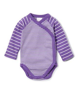 4f5108e2c09da Hanna Andersson | Wisteria II Stripe Organic Cotton Crossover Bodysuit -  Newborn, Infant & Toddler