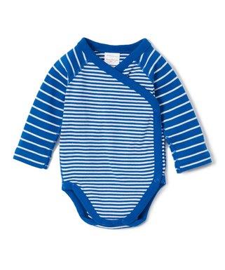 2dfa424d51fc8 Hanna Andersson | Baltic Blue Stripe Organic Cotton Crossover Bodysuit -  Infant & Toddler