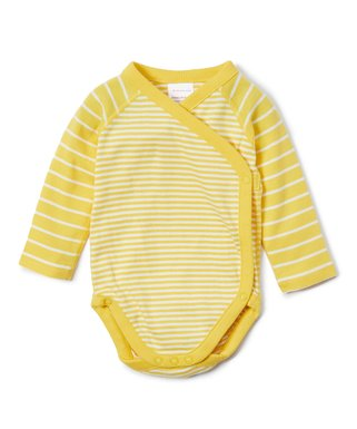 566ae887ce896 Hanna Andersson | Swedish Yellow Stripe Organic Cotton Crossover Bodysuit -  Newborn, Infant & Toddler