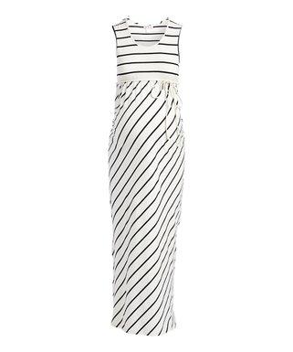 0fa942fa31bc5 Times 2 | Off-White & Black Stripe Sleeveless Maxi Dress