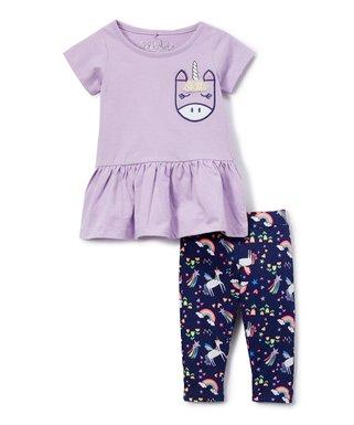 1b255d465a9c4 Lilac Magical Top & Capri Pants - Toddler