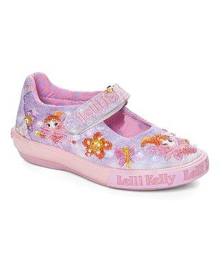 04877494e91 Lilac Fairy Dolly Beaded Mary Jane - Girls