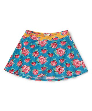 824efeb77d Blue & Red Roses Turn-the-Tide Skirted Bikini Bottoms - Women