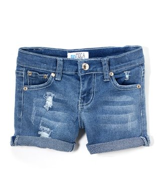 e732737195 Light Wash Distressed Denim Shorts - Girls