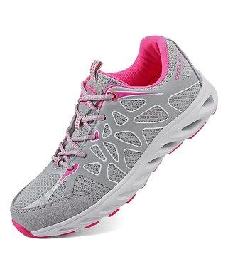 f7395872d570 Light Gray   Pink Running Shoe - Women