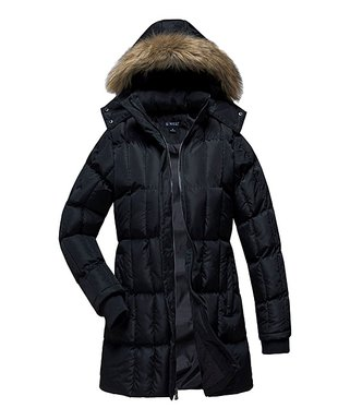 c766d4443e5 Black Faux Fur-Trim Puffer Coat - Women   Plus