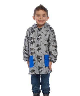549bf1e12 Gray Dinosaur Rain Jacket - Infant & Toddler