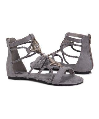5deacca4c23dd Gray   Silver Rosa Gladiator Sandal - Women
