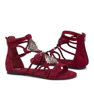 53f4e3f395f2 Red   Silver Rosa Gladiator Sandal - Women