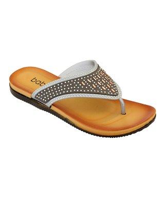 57402b3437b6 Silver   Rose Gold Rhinestone Flip-Flop - Women
