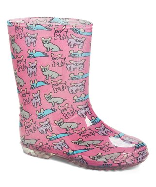 5e095cf6dc0c Pink   Blue Dog Rain Boot - Girls