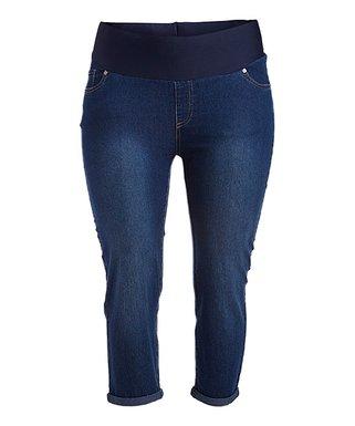 71e83bde8b8d6 Penelope's Closet | Medium Denim Capri Jeans - Plus