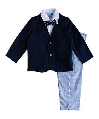 9e3f40190deece Navy Blazer Set - Toddler & Boys