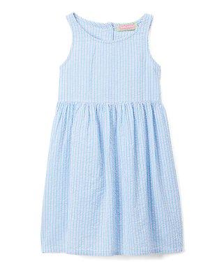Blue Seersucker A-Line Dress - Infant 93f0f20987