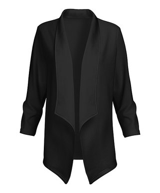 609537a03765 Black Longline Open Blazer - Women & Plus