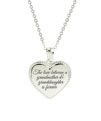 58ee65b20 Pink Box | Stainless Steel 'Love Between Grandmother' Heart Pendant Necklace