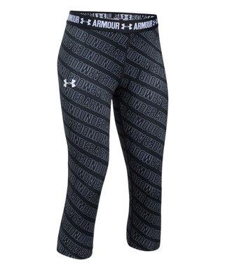 0ec409784f7d3 Black HeatGear® Armour Capri Leggings - Girls
