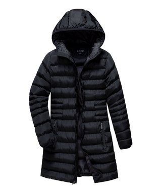 406f6160939 Black Hooded Puffer Coat - Women   Plus