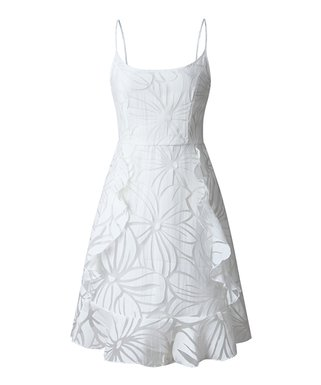 c9551a87bd8 White Floral Fit   Flair Dress - Women