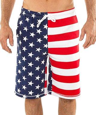 e73c902c93dfb Uzzi Amphibious Gear | Blue & Red American Flag Boardshorts - Men