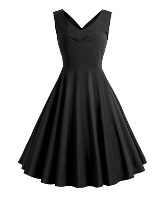 817a46bda0f Black Tea-Length Vintage Fit   Flare Dress - Women   Plus