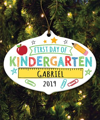'First Day of Kindergarten' Personalized Ornament