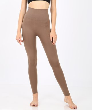 be59aa00d Mocha Tummy-Control High-Waist Leggings - Women   Plus