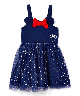 ec9b0966c6f7 Minnie Mouse Navy & Red Star Bow-Accent Tutu Dress - Toddler