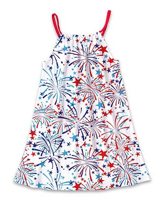 b5bf4c99237 Red   Blue Fireworks Stars Tank Sun Dress - Toddler   Girls