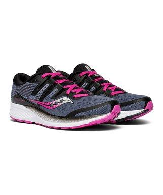 8b666ba8e742 Saucony | Slate & Purple Ride ISO Running Shoe - Women