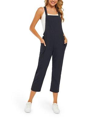 673ce246e4171 Black Cropped Pocket Jumpsuit - Women & Plus