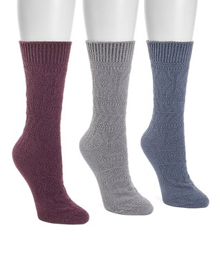LADIES COLOUR TEDDY BEAR THERMAL SOCKS SIZE 4-8 NEW 3 PAIRS OF WOMENS