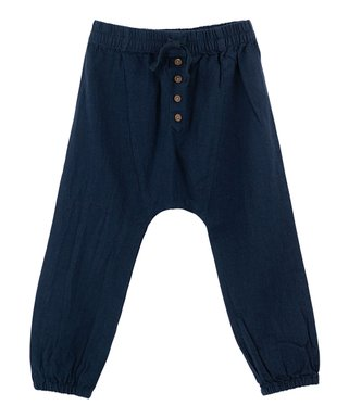 Geagodelia Trendy Pants Kids Harem Pants Boys Cotton Curled Retro Pants