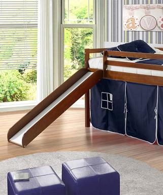 Tent furniture Toddler Blue Espresso Tent Twin Loft Bed Slide Safarilodgetent Furniture