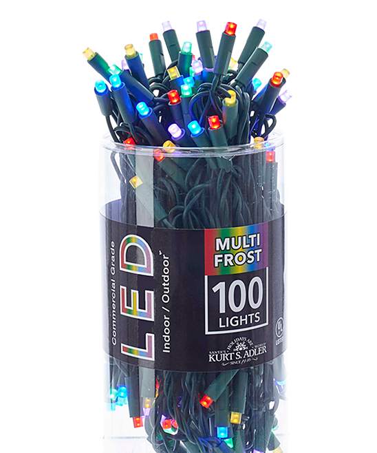 Multicolor Frosted 100-Light LED String