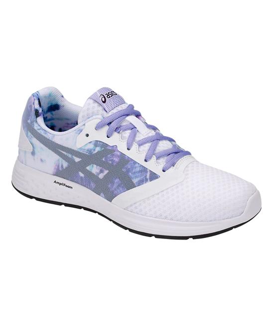 ASICS Women's Running Shoes  - Spring White & Black Patriot 10 Running Shoe - Women