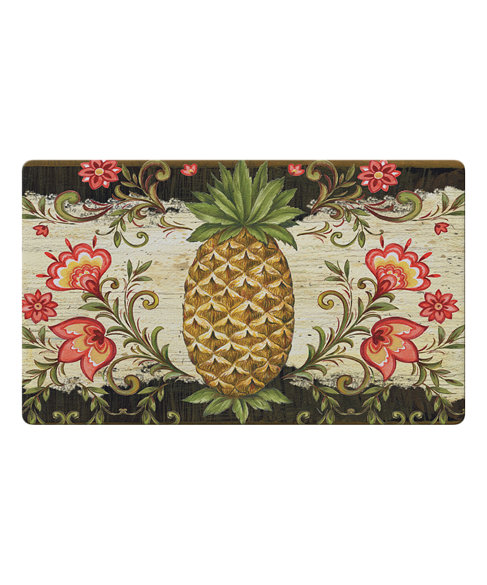 Toland Home Garden  Outdoor Mats  - Pineapple & Scrolls Door Mat