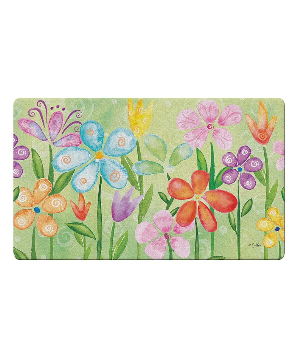 Toland Home Garden  Outdoor Mats  - Spring Blooms Door Mat