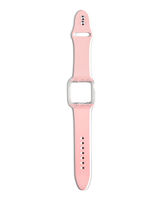 Doossy  Replacement Bands light - Light Pink Silicone Band Replacement with Case for Apple Watch