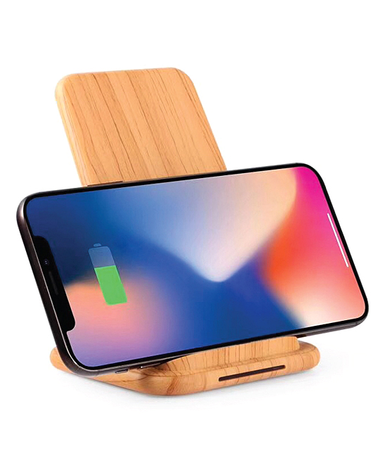 Epic Deals  Portable Chargers Natural - Natural Bamboo-Print Qi Wireless Charging Stand