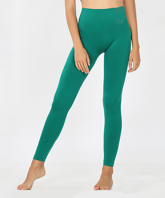 Forest Green Classic Seamless Leggings - Plus