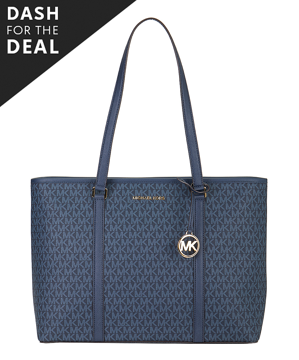 Admiral Blue Signature Sady Large Tote