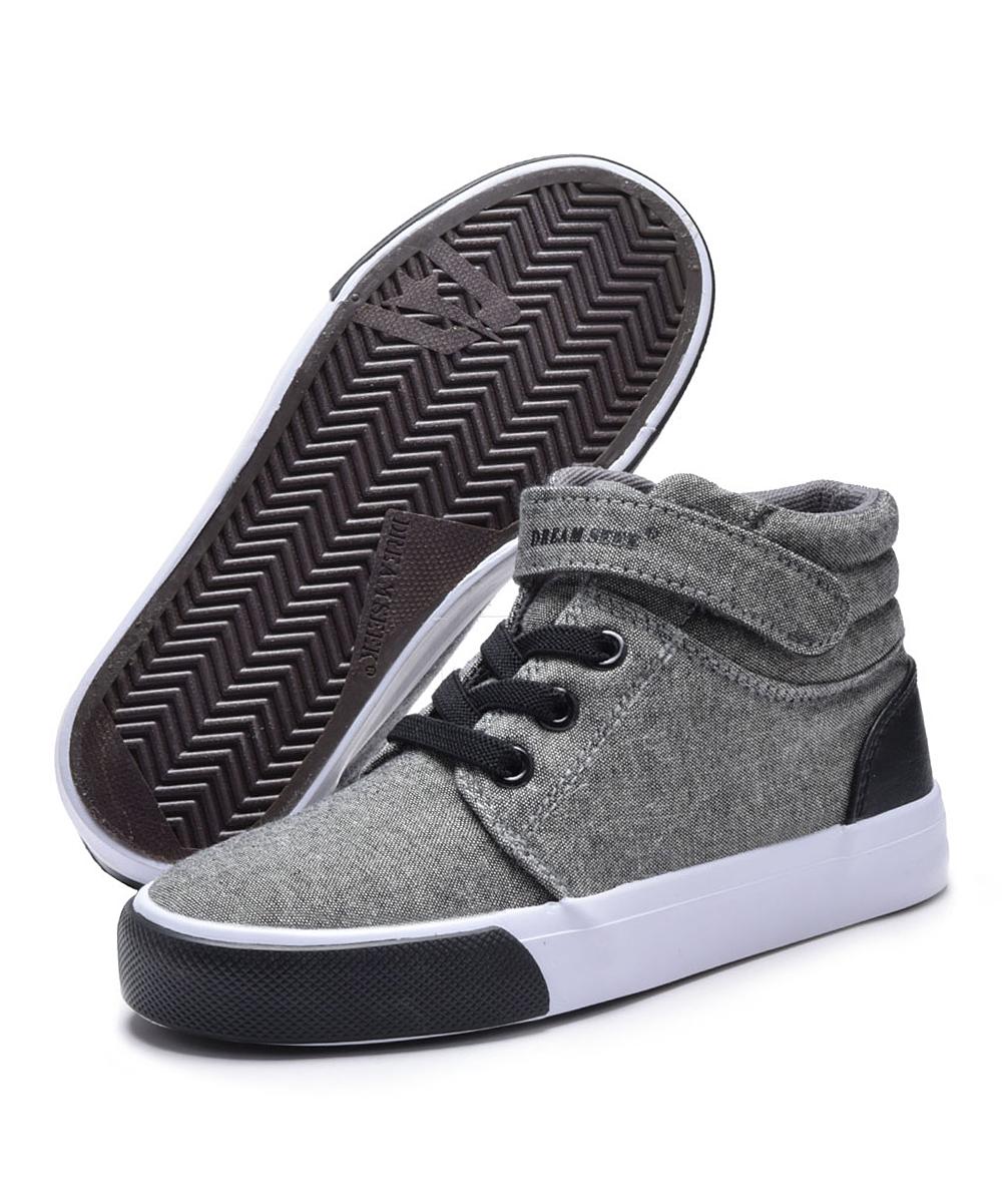 Dream Seek Boys' Sneakers DK. - Dark Gray High Top Sneakers - Boys