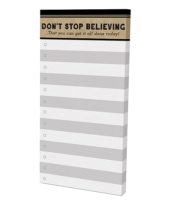 Don't Stop Believing Magnetic List Pad Don't Stop Believing Magnetic List Pad.