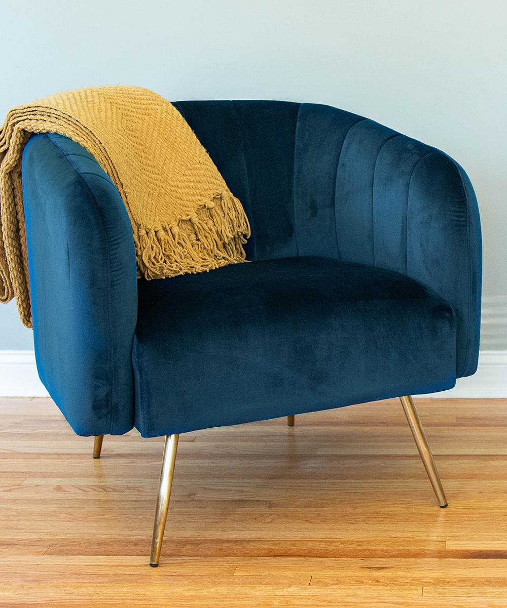 Prime Homepop Navy Velvet Vida Accent Chair Creativecarmelina Interior Chair Design Creativecarmelinacom