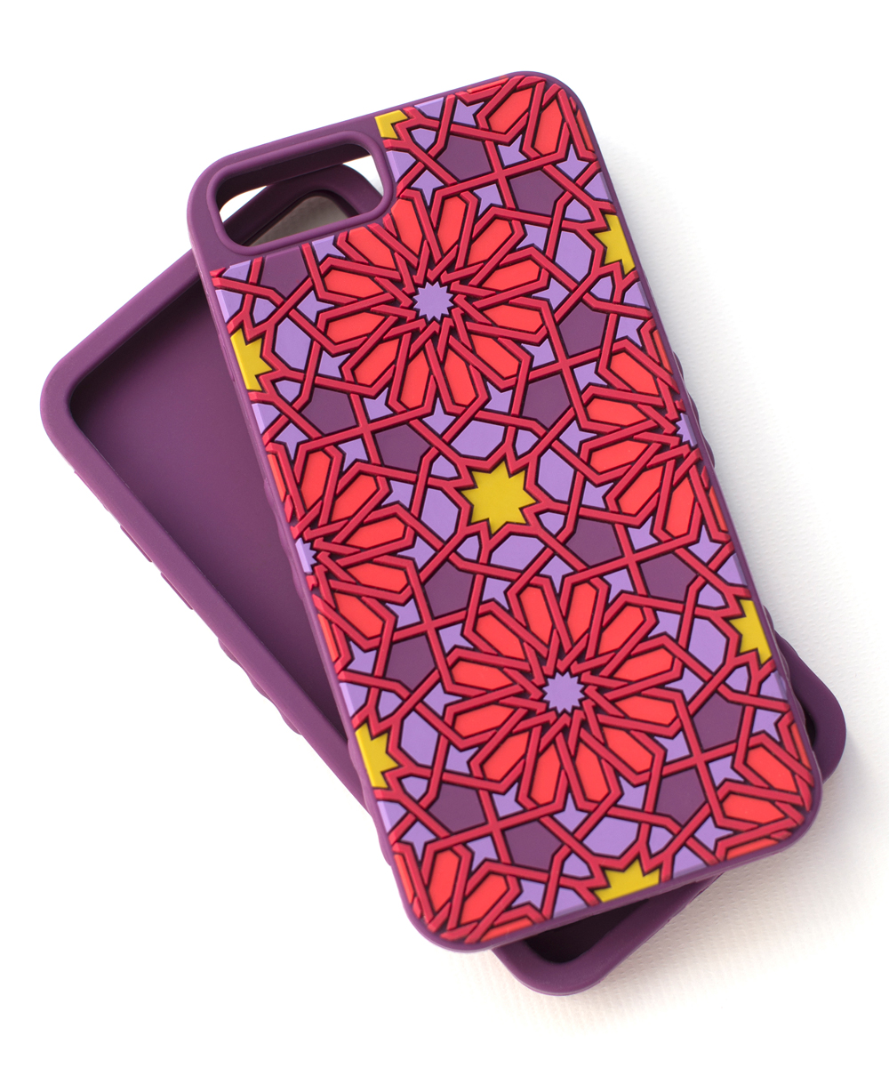 Tech Candy  Cellular Phone Cases Purple/Red - Purple & Red Kaleidoscopic Case for iPhone 6 Plus/6S Plus/7 Plus/8 Plus