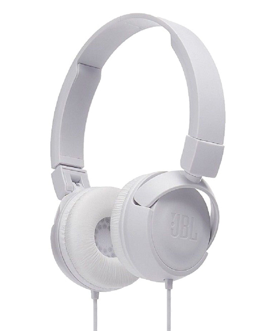 3P Experts  Wired Headphones White - White JBL Pure Bass Sound T450 Wired On-Ear Headphones